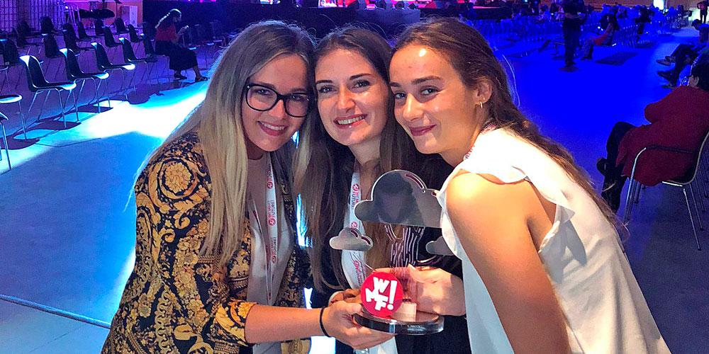 Alice, Elenia e Giorgia vincono l'Hackathon del Parlamento Europeo in collaborazione con il WMF 2021