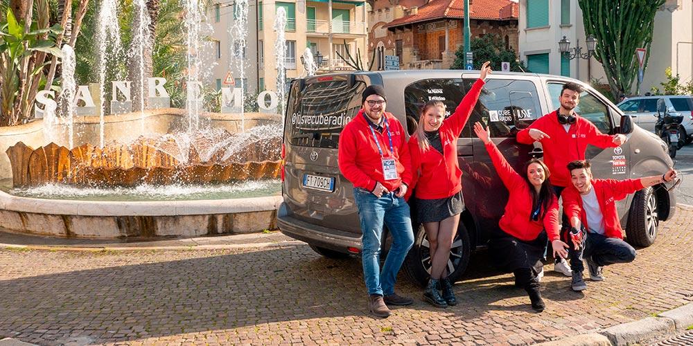 Gli studenti dello IUSVE al Festival di Sanremo 2019 con la IUSVE Cube Radio